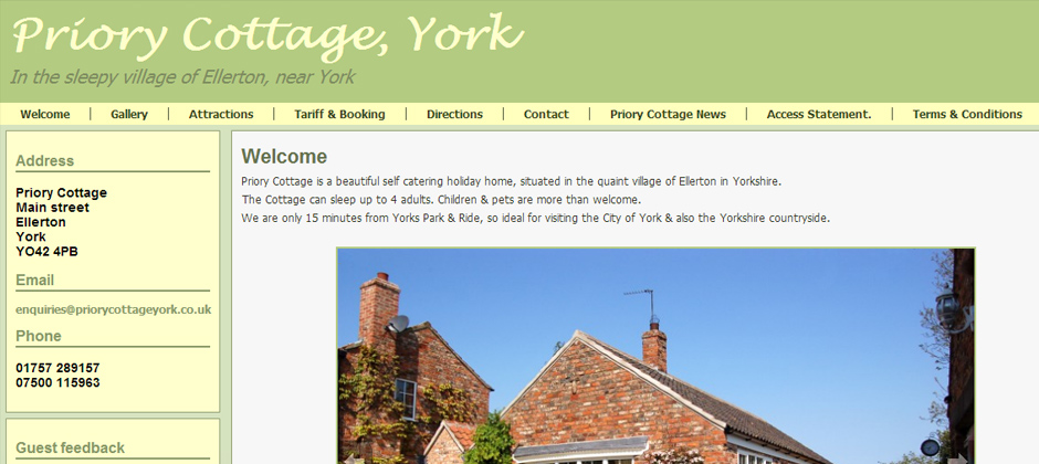 priory cottage header